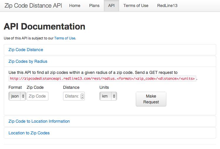 Zipcode API