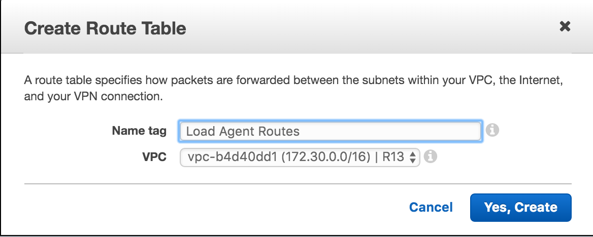 Create Routes Load Agent