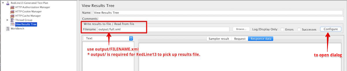 View Results Tree set Filename