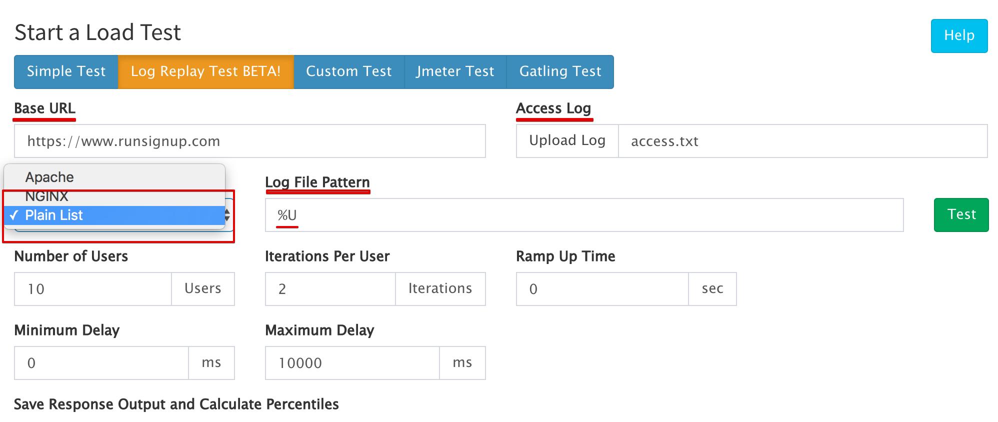 Log File Simple URLs