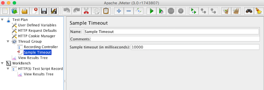 Apache JMeter 3.0 Sample Timeout