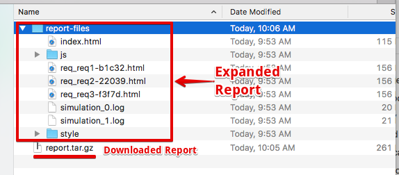 Gatling Report Downloaded and expanded