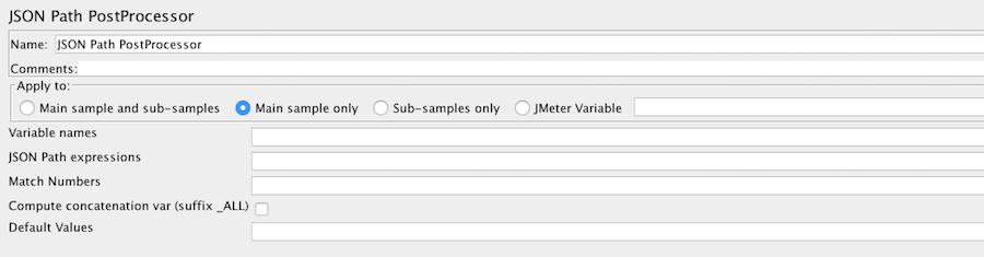 JSON Path PostProcessors JMeter 3.0