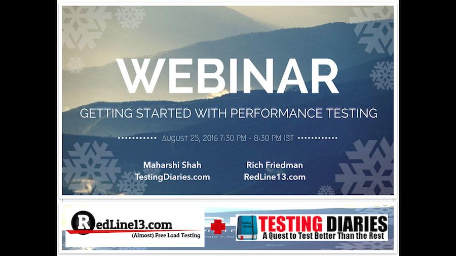 RedLine13 + Testing Diaries Webinar