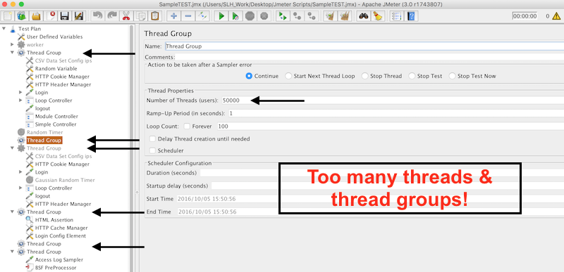 Jmeter Thread Groups