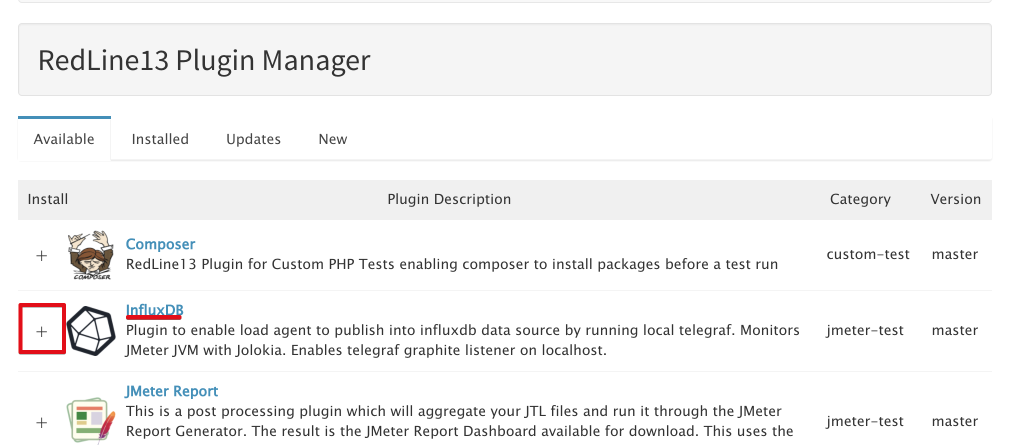 redline13-plugin-manager-add-influxdb