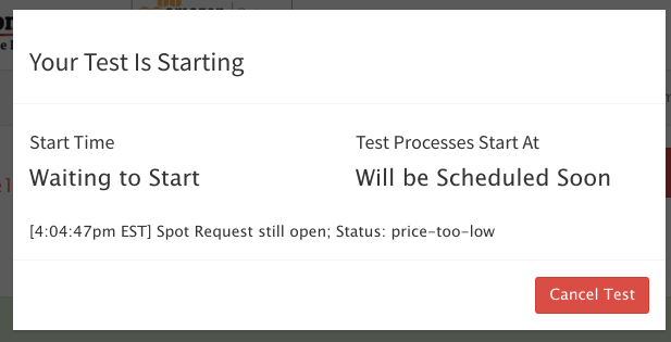 RedLine13 AWS error messages