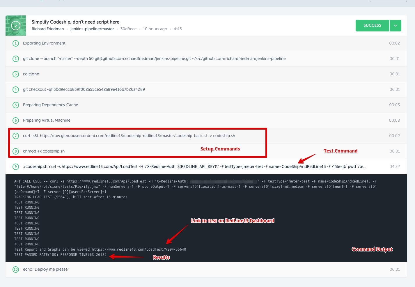 Codeship Integration with Redline13 for easy load testing