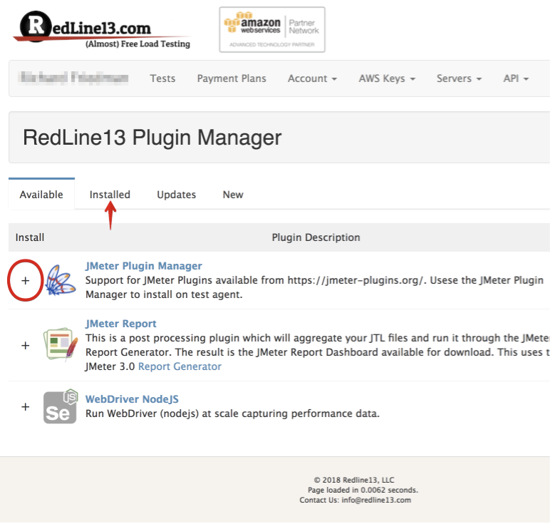 Select your plugins with JMeter Plugins Manager - RedLine13