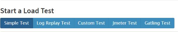 Screenshot for choosing Custom Test