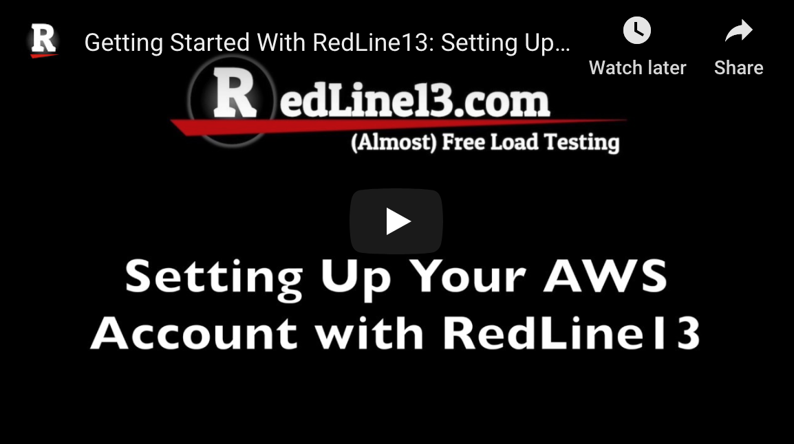 Using AWS for load testing with RedLine13