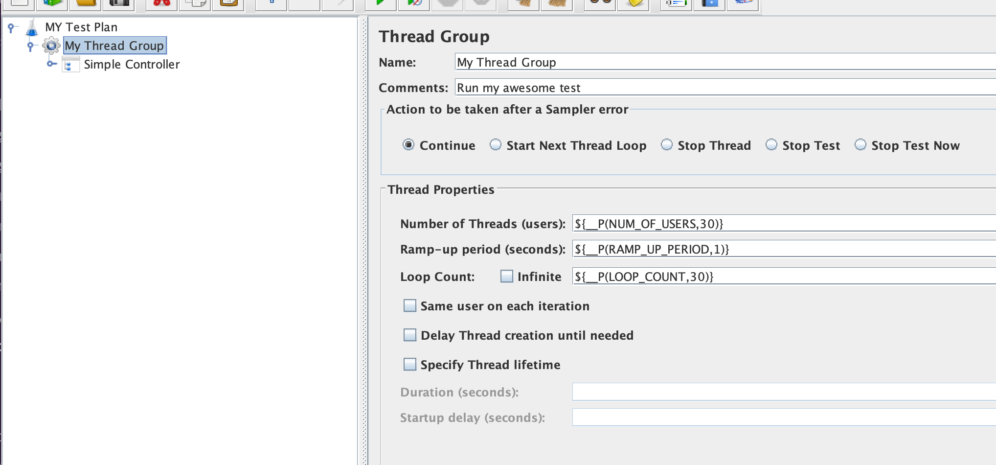 Configure JMeter Thread Counts