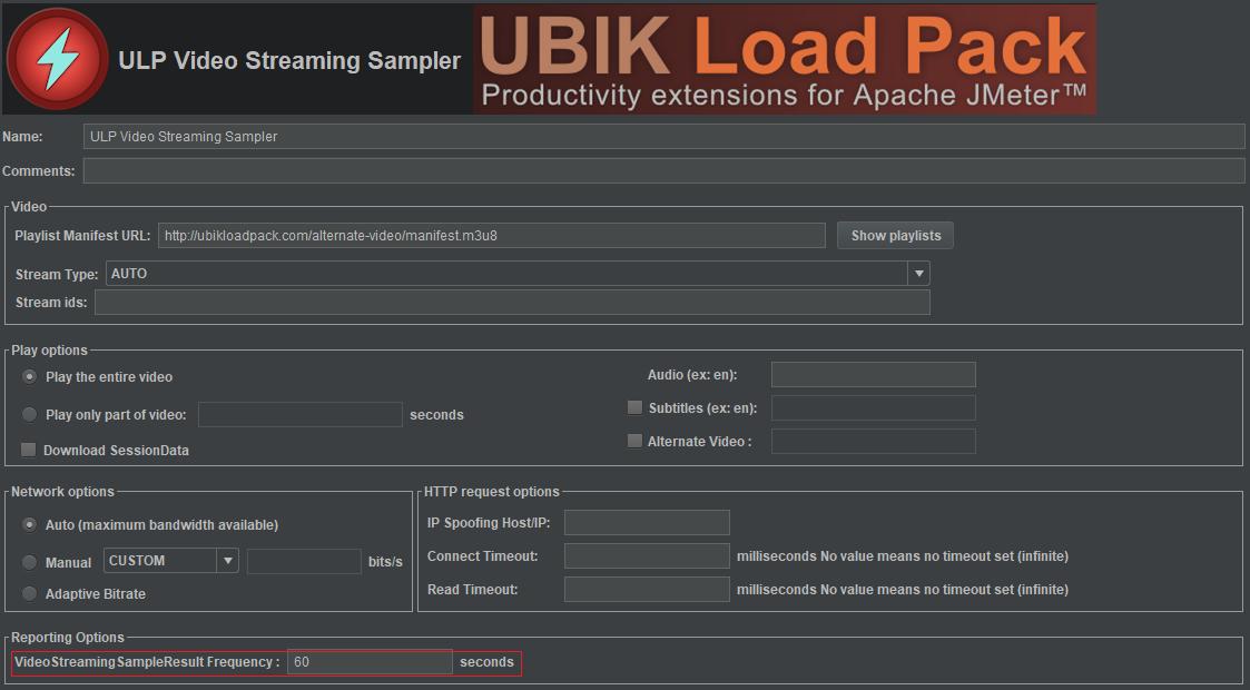 JMeter Video Streaming Plugin