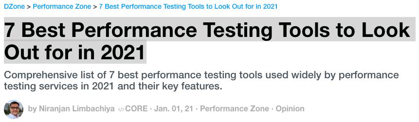 Best Performance Testing Tools