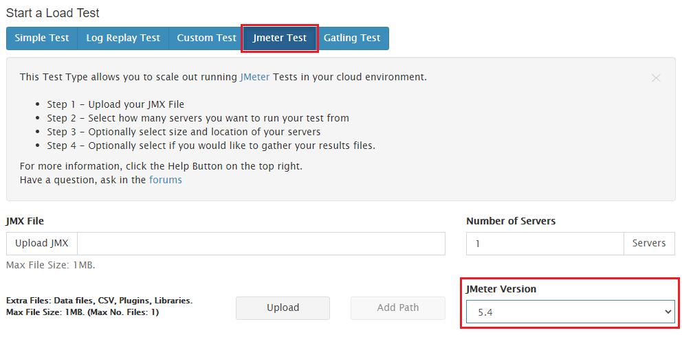 Starting a new JMeter test with RedLine13 JDK 11 Plugin