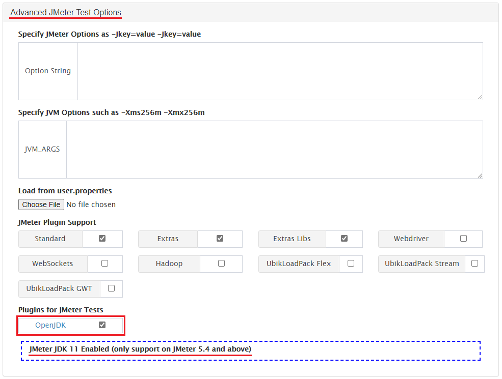 Using the RedLine13 JDK 11 Plugin