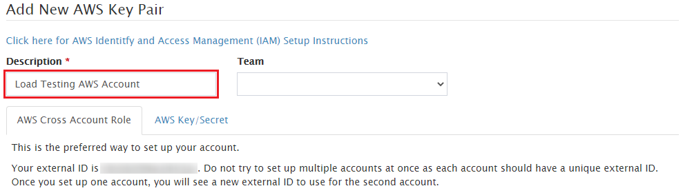 Give your new AWS key pair a meaningful name