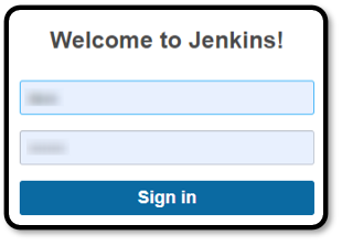 Jenkins administrative console sign in prompt,.